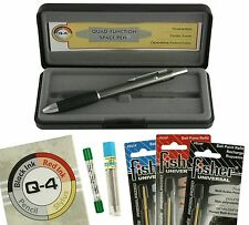 Fisher Space Pen #Q-4 Quad Action  Multi-Pen with all Refills