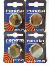 RENATA  Watch Battery  CR2450N Lithium 3V  Swiss Made  4Pc
