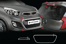 Chrome Front Radiator Grill Garnish Molding Trim for Kia Picanto 11~12 +Tracking