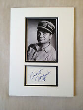 Hand Signed 14x10 ERNEST BORGNINE - FROM HERE TO ETERNITY - MARTY + COA