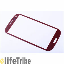 Front Glass Outer Lens Touch Screen for Samsung Galaxy S 3 III i9300 - Red