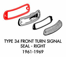 New VW Type 34 Ghia Front Right Turn Signal Seal 1961-1969