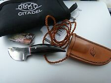 Citadel 4214 Papoose Neck Knife with Sheath, Lanyard and Pouch NEW Buffalo Horn
