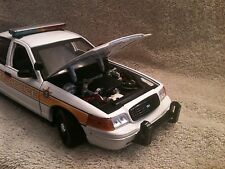 ILLINOIS STATE POLICE UT MOTORMAX DIECAST MODEL WITH WORKING LIGHTS AND SIREN