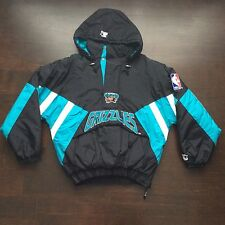 Vintage Vancouver Grizzlies Starter Pullover Jacket Mens Large NBA Memphis Rare