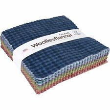 "Maywood Studio Woolies Colors Cotton Flannel Charm Pack of 42 5"" Squares Fabric"