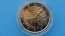 """♣ Pièce 2 euros commémorative  """" FINLANDE  2015  """" SIBELIUS   """"  sous capsule"""