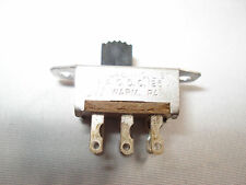 CW Miniature Slide Switch, DPST, Detent, Panel Mount, .5 amp.   FREE SHIPPING
