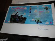 1996 17X11 PROOF PRODUCTION POSTER ROUGH FPO ART BURGER KING TOY STORY PROMOTION