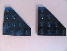 LEGO 30503 @@ Wedge, Plate 4 x 4 Cut Corner (x2) @@ BLACK @@ NOIR