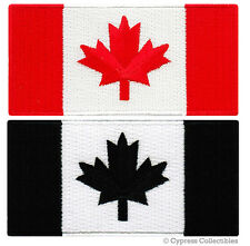 LOT TWO CANADA FLAG EMBROIDERED PATCHES iron-on CANADIAN MAPLE LEAF applique