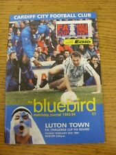 20/02/1994 Cardiff City v Luton Town [FA Cup] . Unless stated previously in the