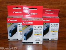 3 Genuine Canon (BCI-3PBK) Photo Black Ink Cartridge (F47-2231-400) **NEW**