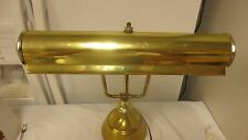 "Older Brass Bankers Electric Desk Lamp-Long 14"" double Bulb-Felt Bottom-Works"
