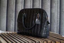 Vintage la bella italien cuir noir sac