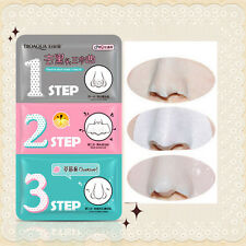 Unisex Magical Blackhead Cosmetic Holika Holika Pig-nose Clear Remove 3 Step Kit