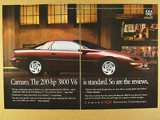 1996 Chevrolet Camaro color photo vintage print Ad