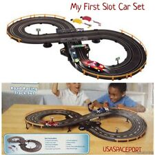 Kids My First R/C ROAD RACING SET 7' Race Track+2 Slot Cars Battery Operated Lot