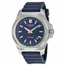 New Victorinox Swiss Army Men's Inox Blue Rubber Strap 43mm Watch 241688.1