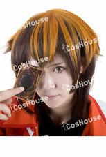 Anime Yu-Gi-Oh! Jaden Yuki Cosplay Men Brown Short Wig Hair