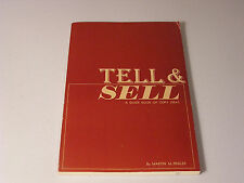 Tell & Sell A Guide Book of Copy Ideas by Martin M. Peglar Advertising Design