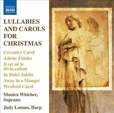 Lullabies and Carols For Christmas cd MONICA WHICHER Soprano/Judy Loman Harp NEW
