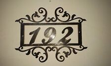 House Number Address Metal Sign, Metal Art