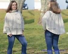 Knitting Pattern - Big Temptation Poncho (Adult sizes)