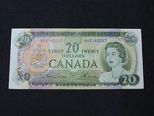 1969 $20 DOLLAR BILL BANK NOTE CANADA LAWSON-BOUEY WH0160347