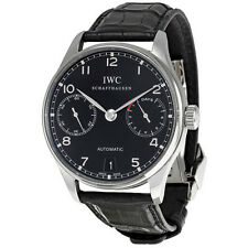 IWC Portuguese Automatic Steel Black Mens Watch IW500109
