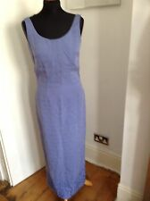 Monsoon Evening Maxi Summer Silk Linen Dress Lilac Size 10