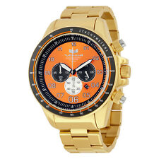 Vestal ZR3 Orange Dial Gold Tone Stainless Steel Mens Chronograph Watch ZR3029