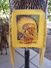 NWOT~Western Indian Chief Fringe Leather Cross Body Small Purse~Patricia Wolf