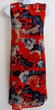 NWT Women's Just Taylor Blue/Red Multi Floral Sleeveless Dress Size 12