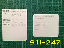 Porsche Boxster Style 2 VIN Data Bonnet Hood Maintenance Book Labels Stickers...