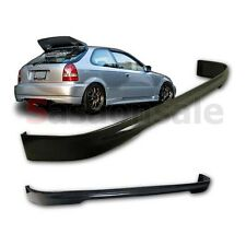 Fit for 96-00 Honda Civic 3dr Hatchback Type-R TR Style Rear Bumper Add on Lip