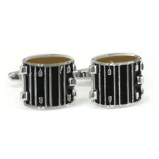 Black Drum Cufflinks New & Boxed percussion music marching snare AJ235 BNIB