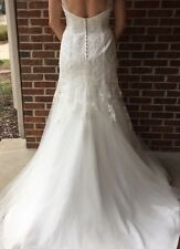Eden Bridal Wedding Gown BlackLabel Ivory Lace Bead Crystal Dress Sz 10 Tall NWT