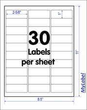 "200 sheets of Address Labels(30pcs/sheet, 2-5/8"" X 1"") Comp. 5160 5960"