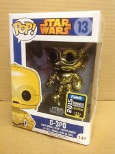 FUNKO POP! Star Wars C-3PO Gold Chrome #13 SDCC Exclusive Vinyl Figure NEW RARE