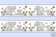 Elephant Wallpaper Border Wall Decals Baby Jungle Safari Nursery Stickers Decor