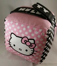 "Hello Kitty Sanrio fabric pink & black Door Stop - 6"" Cube with handle"