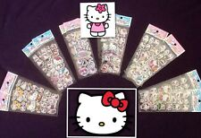HELLO KITTY Stickers 12 Packs 6 Different 2 Of Each - PARTY BAG GIFT Cartoon Cat