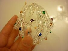 Vintage Christmas Tree Ornament Glass Ornate Hand Made Delicate