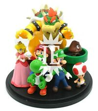 SUPER MARIO BROS. DIORAMA FIGURE BOWSER TOAD GOOMBA LUIGI YOSHI PEACH new action
