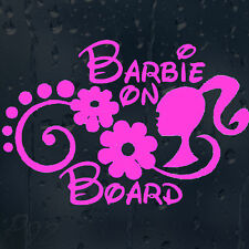 Funny Barbie On Board On Board Child Girl's Car Decal Vinyl Sticker