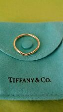 Tiffany & Co Elsa Peretti diamond ring 18k gold wave 2mm wedding band