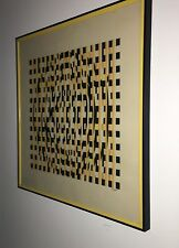 GREAT AGAM SERIGRAPH  PROFESSIONALLY  FRAMED  SIGNED AND NUMBERED PLEXIGLAS