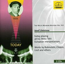 Vol. 16-Welte Mignon Mystery (Josef Lhevinne Today - S (2010, CD NEUF)2 DISC SET