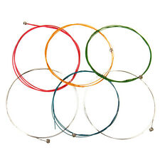 6pcs Set Multi Coloured Rainbow Acoustic Guitar Strings Colourful Quality Steel